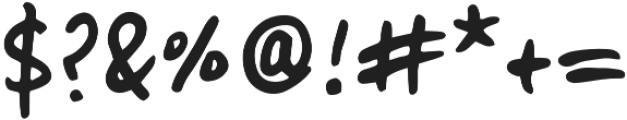 Lid Marker otf (400) Font OTHER CHARS
