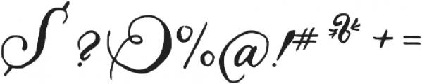 Liesel Regular otf (400) Font OTHER CHARS