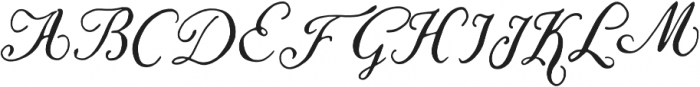 Liesel Regular otf (400) Font UPPERCASE
