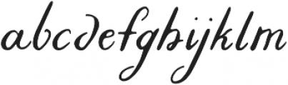 Liesel Regular otf (400) Font LOWERCASE