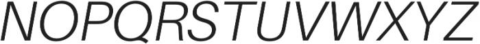 Light Italic otf (300) Font UPPERCASE