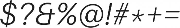 Light Italic ttf (300) Font OTHER CHARS