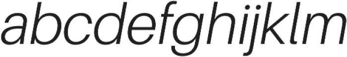 Light Italic ttf (300) Font LOWERCASE