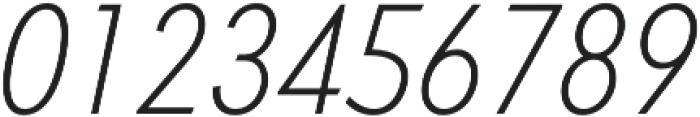 Light Oblique otf (300) Font OTHER CHARS
