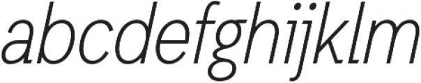 Light Oblique otf (300) Font LOWERCASE