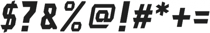 Lightening Bold Italic otf (300) Font OTHER CHARS