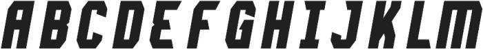 Lightening Bold Italic otf (300) Font UPPERCASE