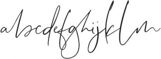 Lightheartedly otf (300) Font LOWERCASE