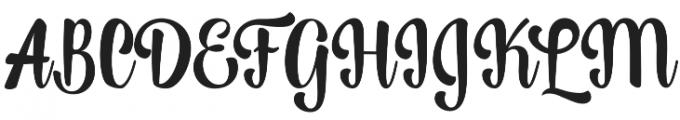 Lightning Script Update Regular otf (300) Font UPPERCASE