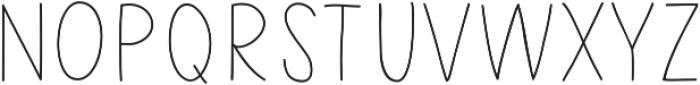 LikelyStory Caps by Kestrel Mon otf (400) Font UPPERCASE