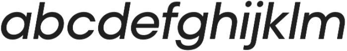 Liliana SemiBold Italic otf (600) Font LOWERCASE
