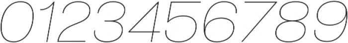 Liliana UltraLight Italic otf (300) Font OTHER CHARS