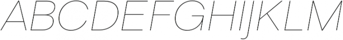 Liliana UltraLight Italic otf (300) Font UPPERCASE
