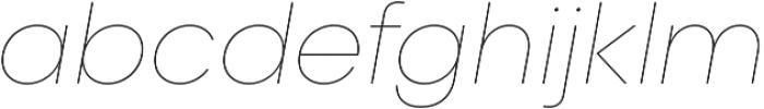 Liliana UltraLight Italic otf (300) Font LOWERCASE