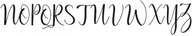 Lilly Mae otf (400) Font UPPERCASE