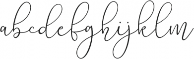 Lilypaly otf (400) Font LOWERCASE
