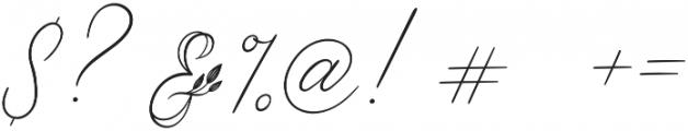 Limerence Regular otf (400) Font OTHER CHARS