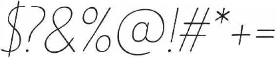 Limes Sans Thin Italic otf (100) Font OTHER CHARS