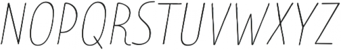 Limes Sans Thin Italic otf (100) Font UPPERCASE