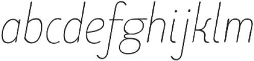 Limes Sans Thin Italic otf (100) Font LOWERCASE