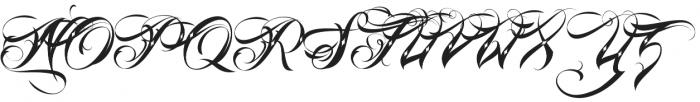 Lina Script Dot Alt Pro otf (400) Font UPPERCASE