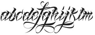 Lina Script Dot Alt Pro otf (400) Font LOWERCASE