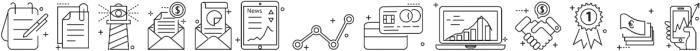Line Flat Icon otf (400) Font UPPERCASE