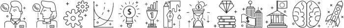 Line Flat Icon ttf (400) Font UPPERCASE