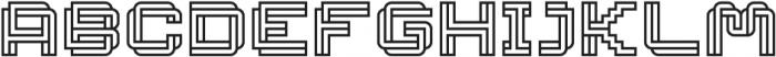 Linee Regular ttf (400) Font LOWERCASE