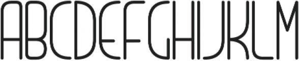 LinerNormal Regular otf (400) Font UPPERCASE
