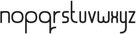 LinerNormal Regular otf (400) Font LOWERCASE