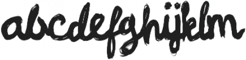 Linger On otf (400) Font LOWERCASE