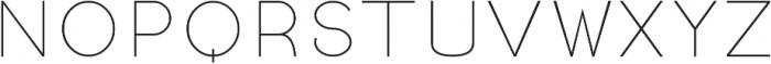 Linnet Thin otf (100) Font UPPERCASE
