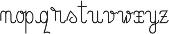 LinoLinoScriptTT otf (400) Font LOWERCASE