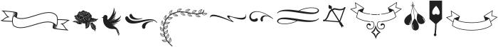 Liontine Extras Regular otf (400) Font LOWERCASE