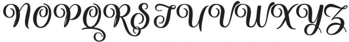 Liontine Script Regular otf (400) Font UPPERCASE