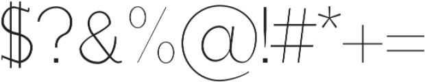 Lisandro otf (400) Font OTHER CHARS