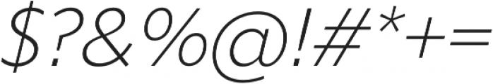 Liszt FY Light Italic otf (300) Font OTHER CHARS