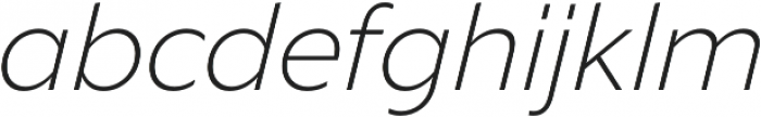 Liszt FY Light Italic otf (300) Font LOWERCASE