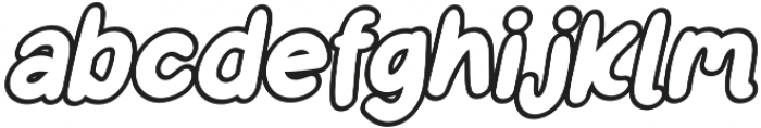 Little Kodomo Italic outline otf (400) Font LOWERCASE