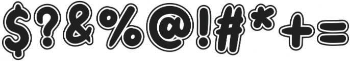 Little Kodomo OffsetOutline otf (400) Font OTHER CHARS
