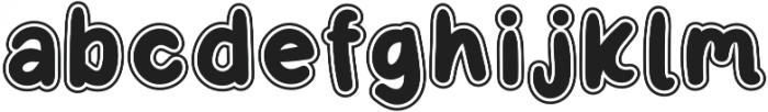 Little Kodomo OffsetOutline otf (400) Font LOWERCASE
