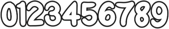 Little Kodomo outline otf (400) Font OTHER CHARS
