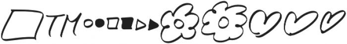 Little Ophelia Extras otf (400) Font LOWERCASE