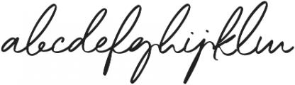 Little Ophelia otf (400) Font LOWERCASE