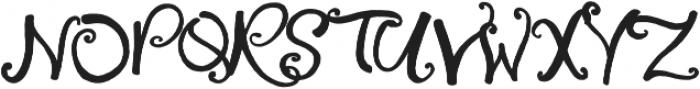Little Raspberry otf (400) Font UPPERCASE