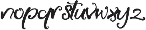 Little Raspberry otf (400) Font LOWERCASE