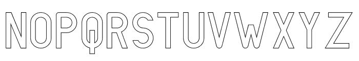 LIONELLO Stroke Font UPPERCASE