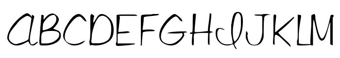 Libby Regular Font UPPERCASE