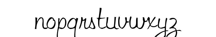 LibbyScript2 Script2:001.001 Font LOWERCASE